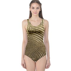 Brushed Gold One Piece Swimsuit
