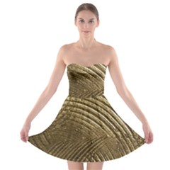 Brushed Gold Strapless Bra Top Dress