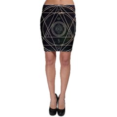 Cult Of Occult Death Detal Hardcore Heavy Bodycon Skirt