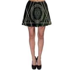 Cult Of Occult Death Detal Hardcore Heavy Skater Skirt