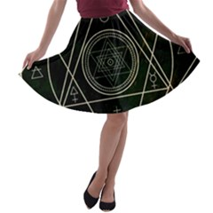 Cult Of Occult Death Detal Hardcore Heavy A-line Skater Skirt