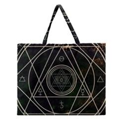 Cult Of Occult Death Detal Hardcore Heavy Zipper Large Tote Bag