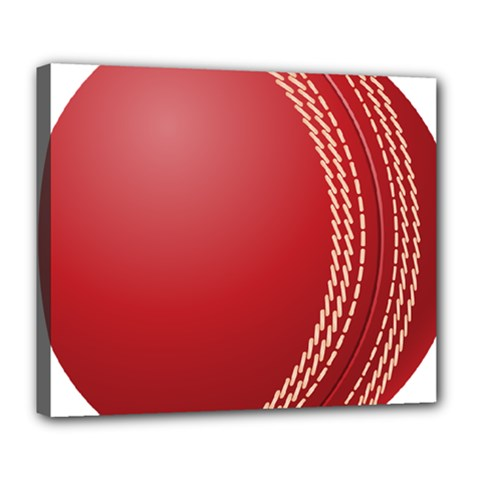 Cricket Ball Deluxe Canvas 24  X 20