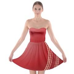 Cricket Ball Strapless Bra Top Dress