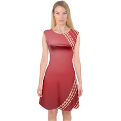 Cricket Ball Capsleeve Midi Dress