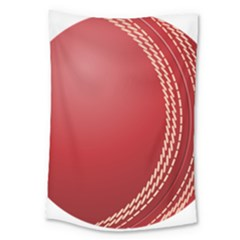 Cricket Ball Large Tapestry