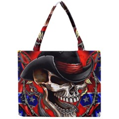 Confederate Flag Usa America United States Csa Civil War Rebel Dixie Military Poster Skull Mini Tote Bag