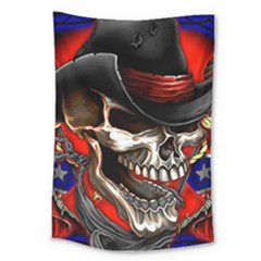 Confederate Flag Usa America United States Csa Civil War Rebel Dixie Military Poster Skull Large Tapestry