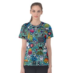 Comics Collage Women s Cotton Tee