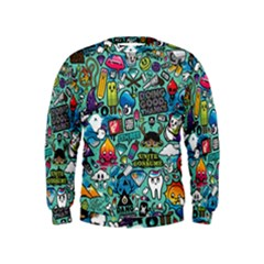 Comics Collage Kids  Sweatshirt