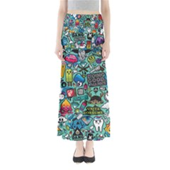 Comics Collage Maxi Skirts