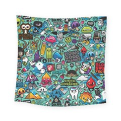 Comics Collage Square Tapestry (small)