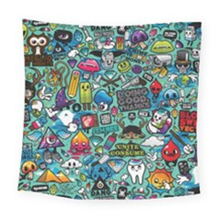 Comics Collage Square Tapestry (Large)