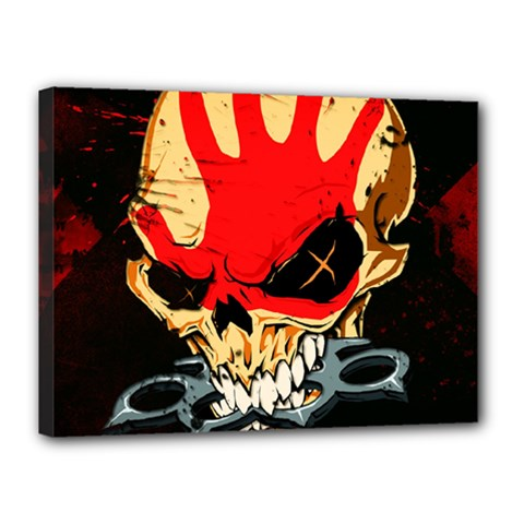 Five Finger Death Punch Heavy Metal Hard Rock Bands Skull Skulls Dark Canvas 16  x 12