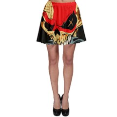 Five Finger Death Punch Heavy Metal Hard Rock Bands Skull Skulls Dark Skater Skirt