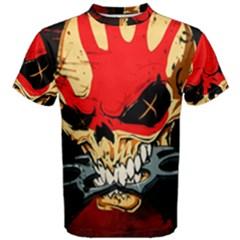 Five Finger Death Punch Heavy Metal Hard Rock Bands Skull Skulls Dark Men s Cotton Tee