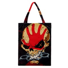 Five Finger Death Punch Heavy Metal Hard Rock Bands Skull Skulls Dark Classic Tote Bag