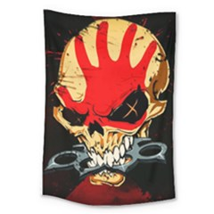 Five Finger Death Punch Heavy Metal Hard Rock Bands Skull Skulls Dark Large Tapestry