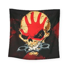 Five Finger Death Punch Heavy Metal Hard Rock Bands Skull Skulls Dark Square Tapestry (Small)