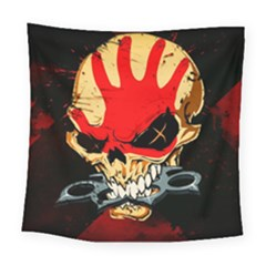 Five Finger Death Punch Heavy Metal Hard Rock Bands Skull Skulls Dark Square Tapestry (Large)