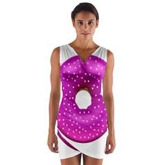 Donut Transparent Clip Art Wrap Front Bodycon Dress