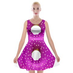Donut Transparent Clip Art Velvet Skater Dress
