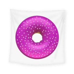 Donut Transparent Clip Art Square Tapestry (small)