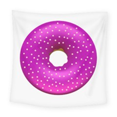 Donut Transparent Clip Art Square Tapestry (large)