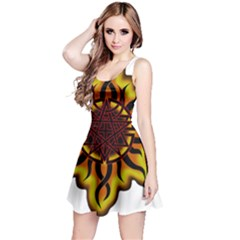 Disturbed Is An American Heavy Metal Band Logo Reversible Sleeveless Dress