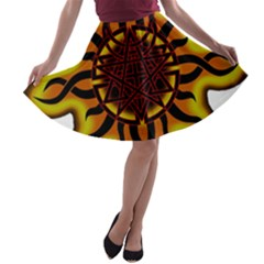 Disturbed Is An American Heavy Metal Band Logo A-line Skater Skirt