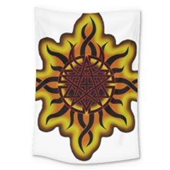Disturbed Is An American Heavy Metal Band Logo Large Tapestry