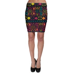 Ethnic Pattern Bodycon Skirt