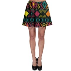 Ethnic Pattern Skater Skirt