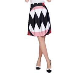 Funny Angry A-Line Skirt