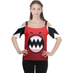 Funny Angry Women s Cutout Shoulder Tee