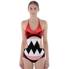 Funny Angry Cut-Out One Piece Swimsuit