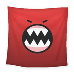 Funny Angry Square Tapestry (Large)