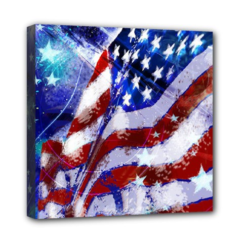 Flag Usa United States Of America Images Independence Day Mini Canvas 8  x 8