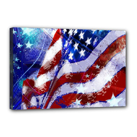 Flag Usa United States Of America Images Independence Day Canvas 18  X 12