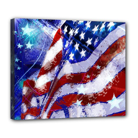 Flag Usa United States Of America Images Independence Day Deluxe Canvas 24  X 20