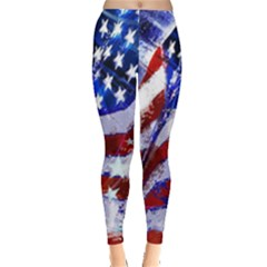Flag Usa United States Of America Images Independence Day Leggings