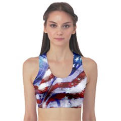 Flag Usa United States Of America Images Independence Day Sports Bra