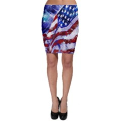 Flag Usa United States Of America Images Independence Day Bodycon Skirt
