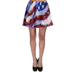 Flag Usa United States Of America Images Independence Day Skater Skirt