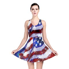 Flag Usa United States Of America Images Independence Day Reversible Skater Dress