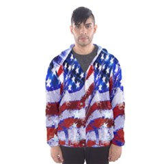 Flag Usa United States Of America Images Independence Day Hooded Wind Breaker (Men)
