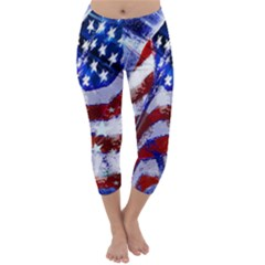 Flag Usa United States Of America Images Independence Day Capri Winter Leggings