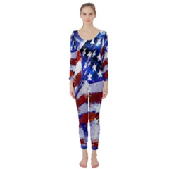 Flag Usa United States Of America Images Independence Day Long Sleeve Catsuit