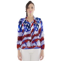Flag Usa United States Of America Images Independence Day Wind Breaker (Women)