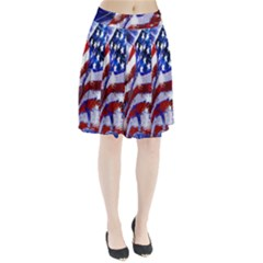 Flag Usa United States Of America Images Independence Day Pleated Skirt